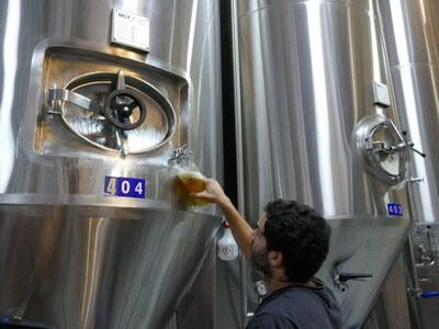 טועמים בירה מהחבית, שתיה מהחבית