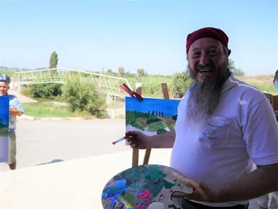 סדנת ציור בטבע, תצפית נוף עמק חפר