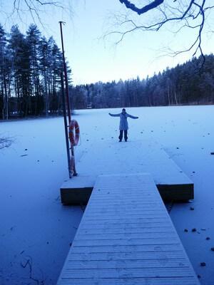 kerstin blomquist on a frozen lake