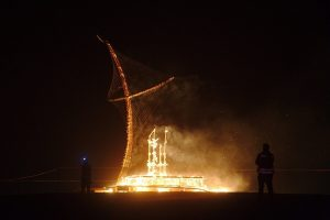midbern-מידברן מיצב נשרף