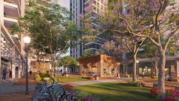 תרשים של שכונת הגפן לפי התכנון של ICR התחדשות עירונית
