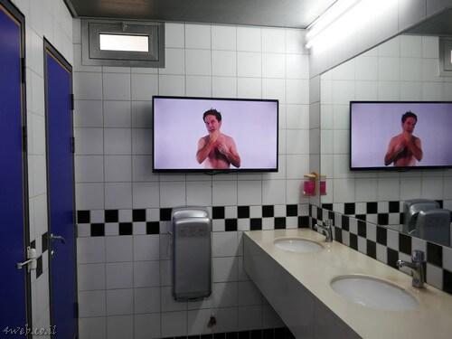 כל מה שחם, אומנות מוצגת גם בשירותים
