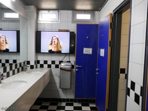 כל מקום מתאים להצגה ונגישות יצירות בינלאומיות, כל מה שחם, גם בשירותים