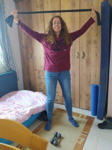 תעסוקה למבודדים -תרגילי כושר בבית