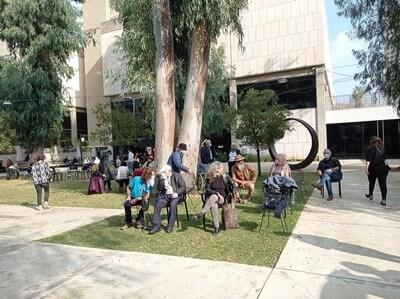 פתיחה של תערוכה בתל אביב. מוזיאון תל אביב