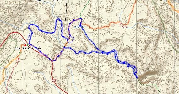 המסלול המעגלי האתגרי בנחל פרס, נח תחמס